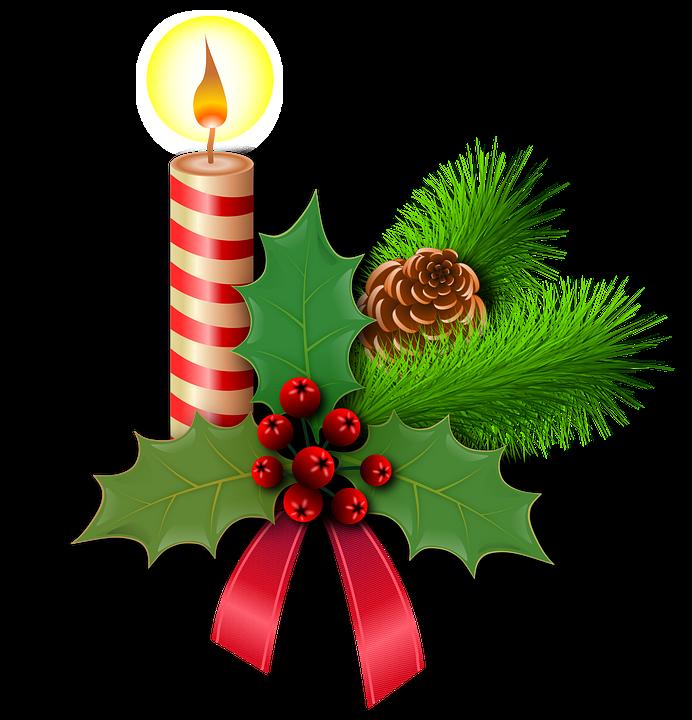 Christmas Holly Candles 183 Free Image On Pixabay