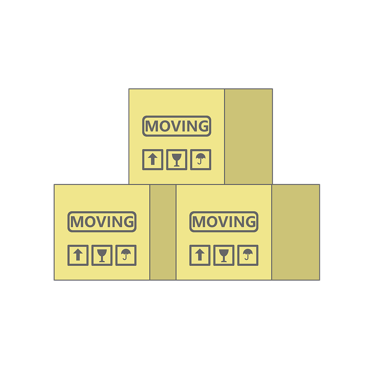 Преместване, Кутии, Кутия, Картон, Къща, Начало