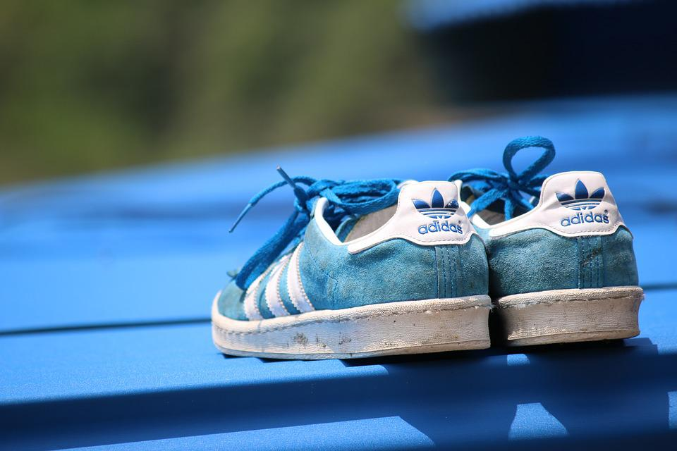 Синий, Адидас, Обувь
