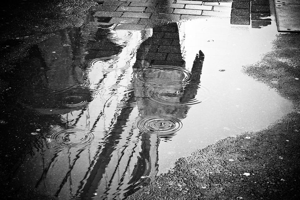 Lluvia, Charco, El Agua, Reflejo, Mojado, El Clima