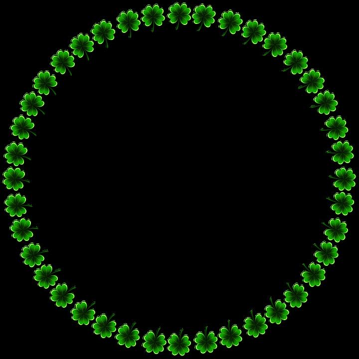 Marco Shamrocks Sobre Trébol De · Imagen gratis en Pixabay