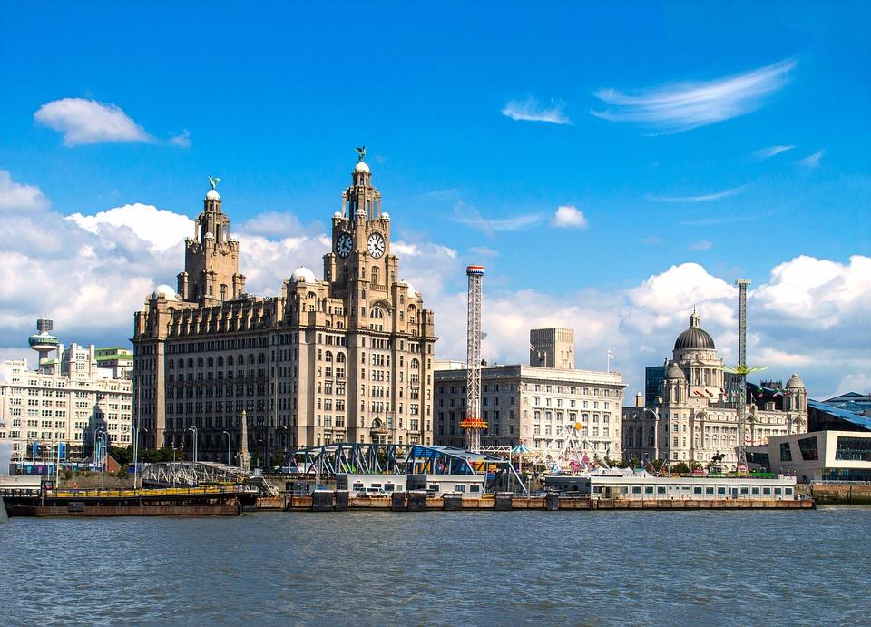 Liverpool, Landmark, Cityscape, Architektura, Brytanii