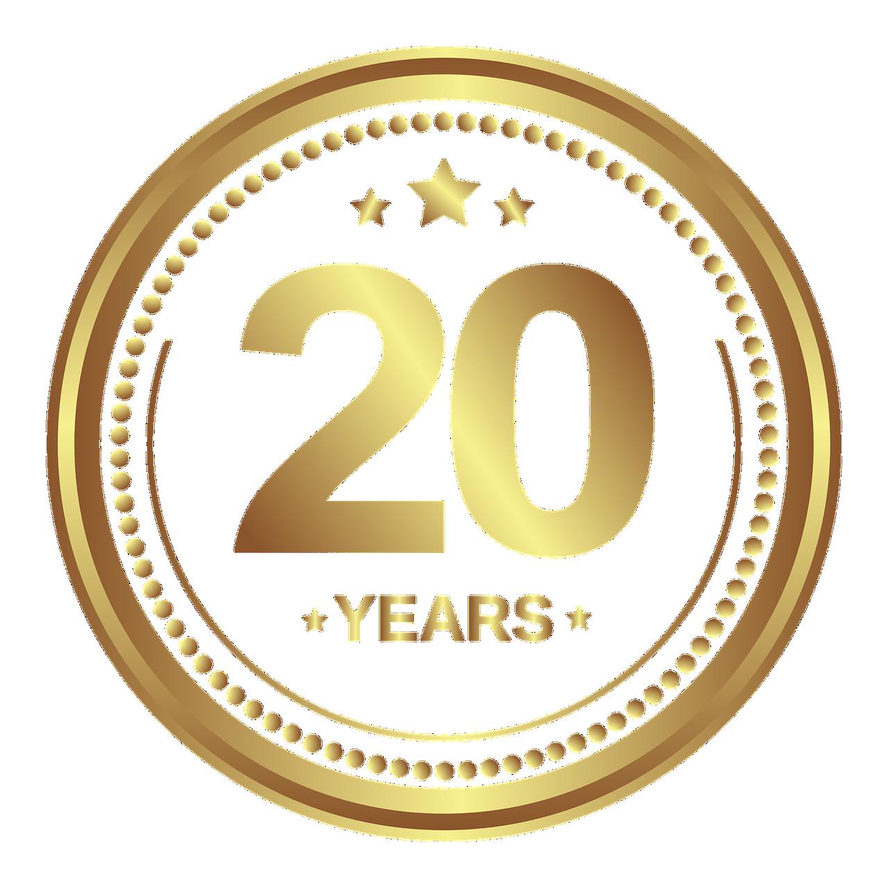 Medaille Jubiläum 20 Jahre   Kostenlose Vektorgrafik auf Pixabay