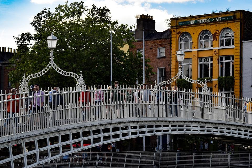 The Ha'Penny Bridge, Bro, Pedestrian Bridge, Dublin