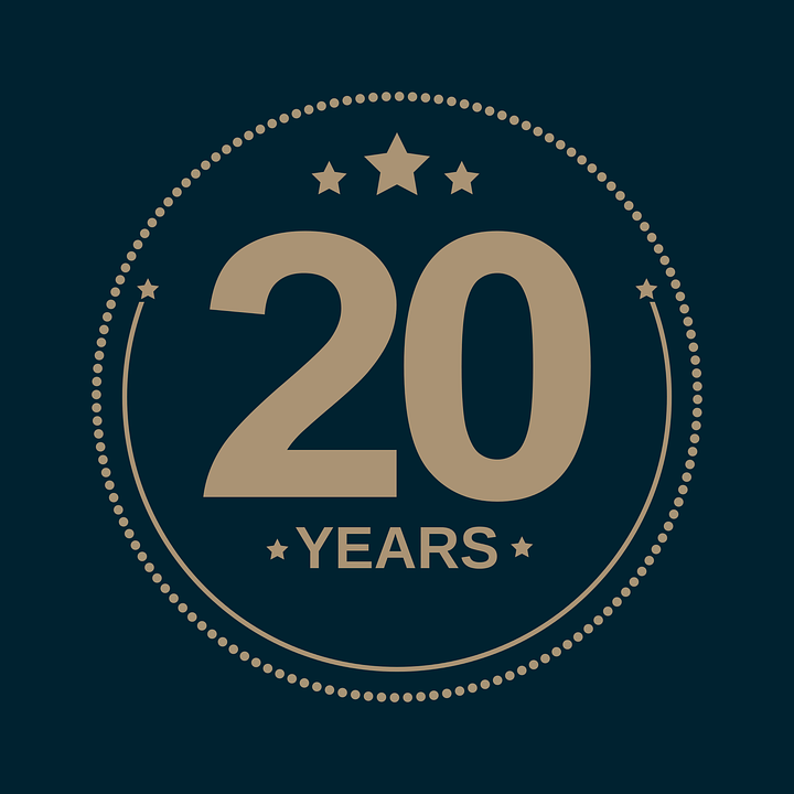 Anniversary Holiday 20 Years Free Vector Graphic On Pixabay