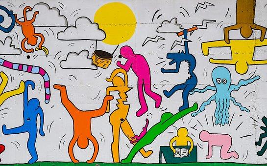 Graffiti, Terrain De Jeux, Coloré