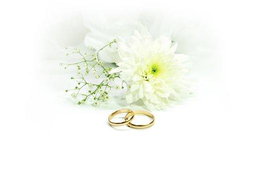 結婚式、リング、結婚する、ゴールド、レジャー、前、ロマンス、デコ