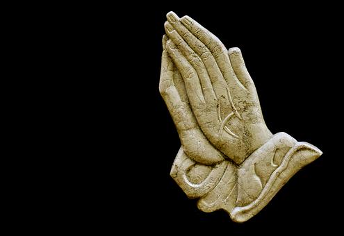 Praying Hands, Religious, Granite