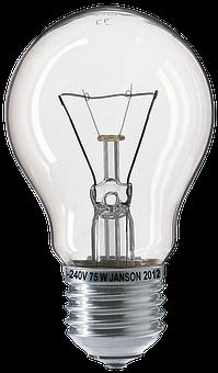 Light Bulb, Bulbs, Fragile, 75W
