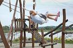 playground, swing, child