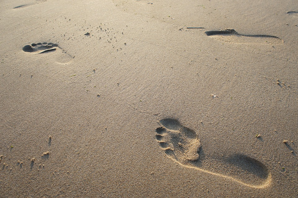 Sand, Beach, Foot, Footprint, Sea, Nature, Feet, Print