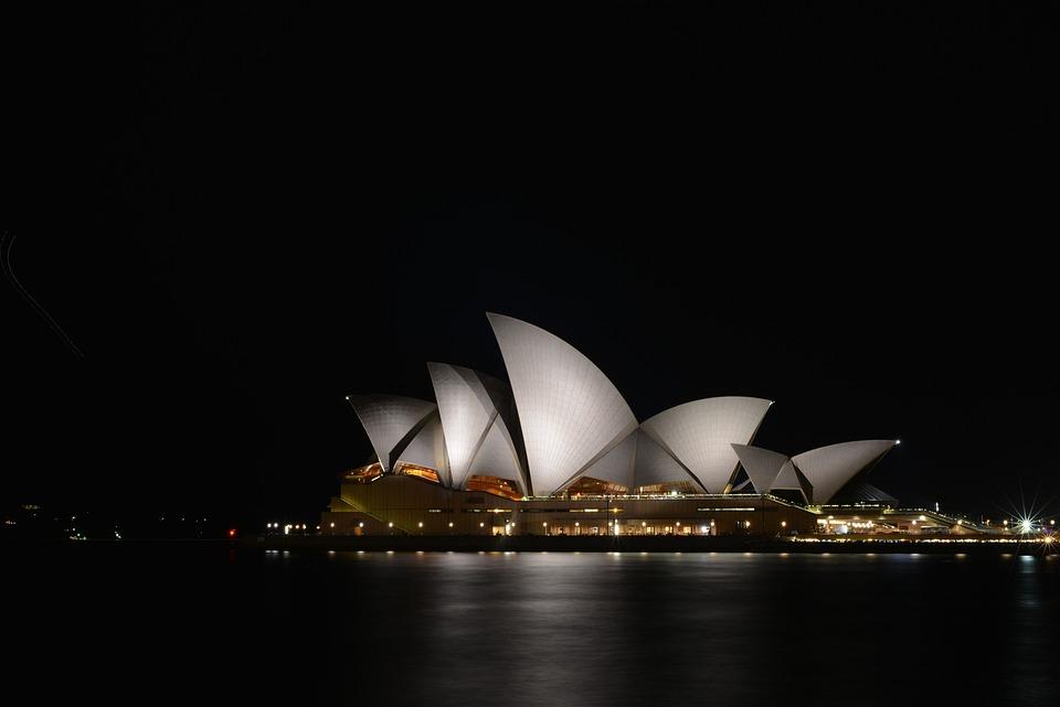 Sydney, Opera House, Night View