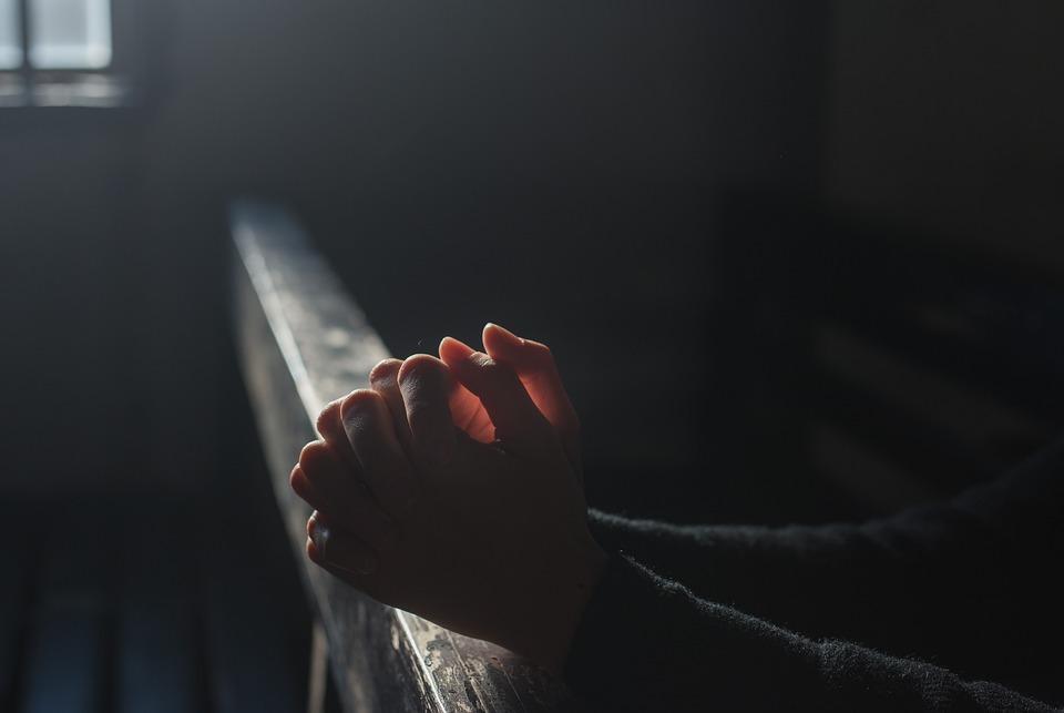 Prayer, Hands, Church, Light