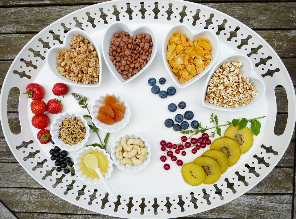 Tray, Breakfast, Muesli, Fruit, Fruits, Bowls, Bio