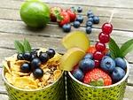 fruits, fruit, glasses