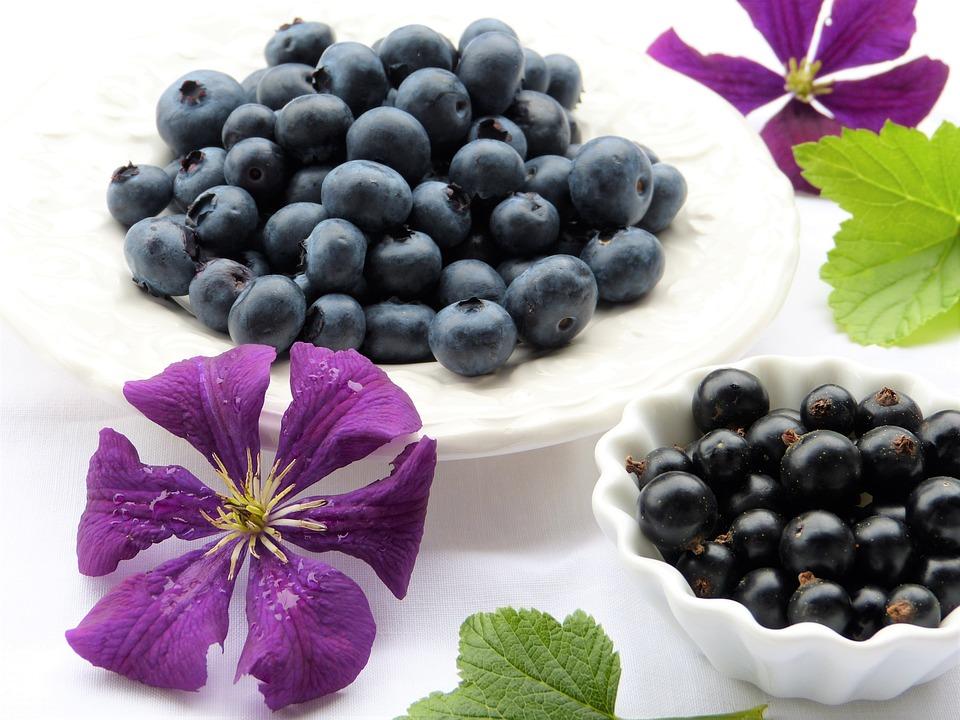 Mirtilli, Ribes Nero, Clematide, Fiore, Viola, Foglie