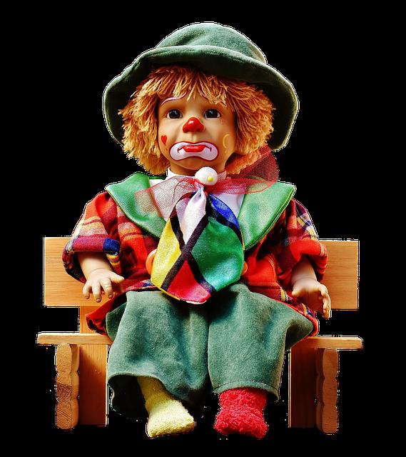 картинка куклы и клоунами