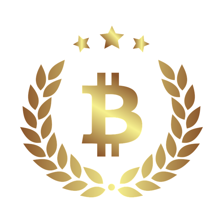Bitcoin Currency Gold Sign Finances Money Wealth