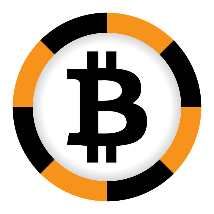 Bitcoin Currency Black Orange Sign Finances Money