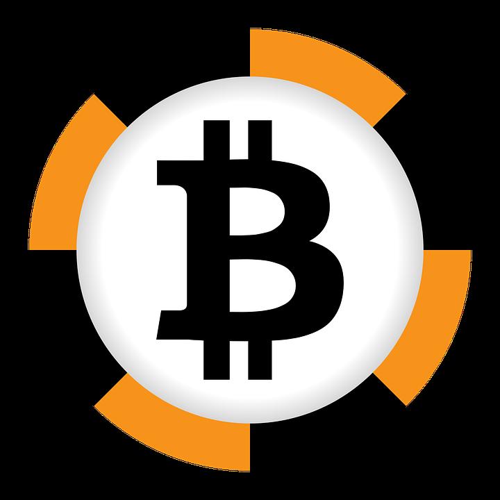 Bitcoin Currency Black Orange Sign Finances Money
