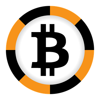 Bitcoin, Currency, Black, Orange, Sign