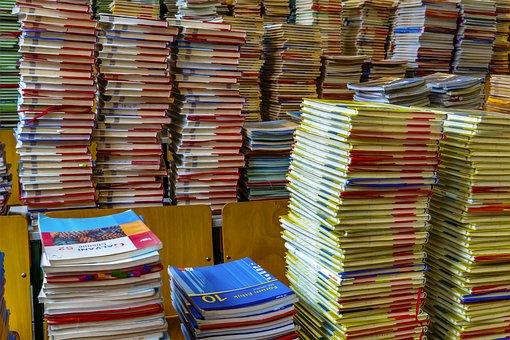 Książki, Book Stos, Książek Dużo