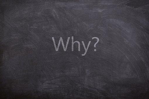 なぜ, 質問, テキスト, 黒板, テクスチャ, ホワイト, 灰色の質問, なぜ
