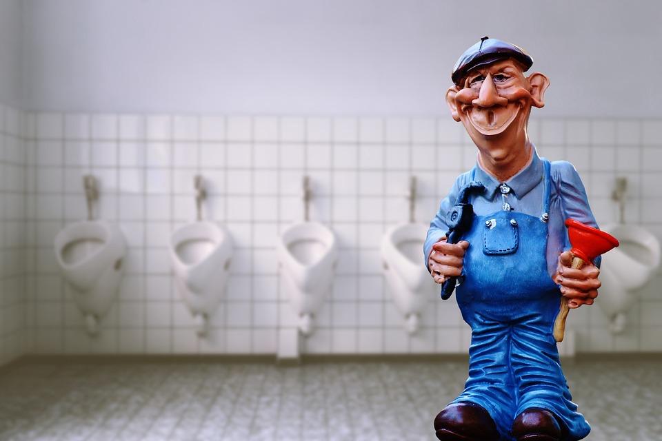 配管工, Pömpel, フィギュア, 衛生, かわいい, おかしい, トイレ, ブロックされました, 楽しい