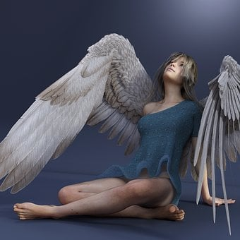 Angel, Wing, Woman, Female, Young Woman