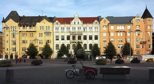 Finland, Helsinki, Sunshine, Building
