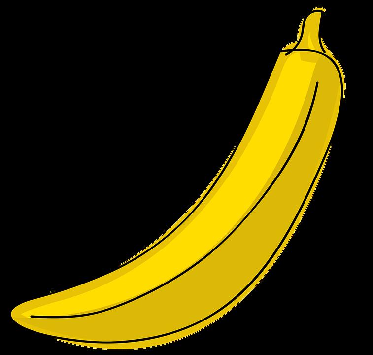 banano frutas dibujos animados imagen gratis en pixabay