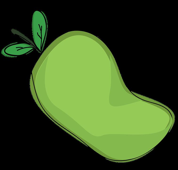 mango frutas dibujos animados imagen gratis en pixabay