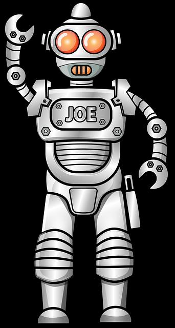 Robot dessin animé brillant · image gratuite sur pixabay
