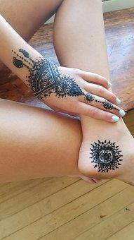 Les Tatouages Au Henné, Art Corporel