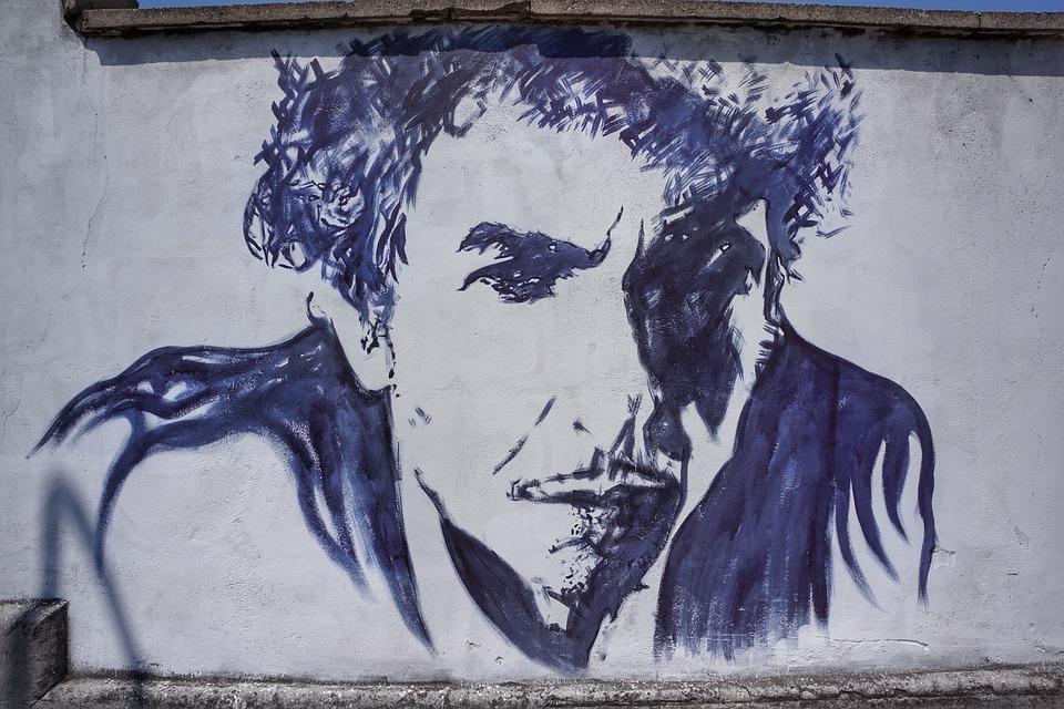 Bob Dylan, Straat, Kunst, Graffiti, Verona, Italië