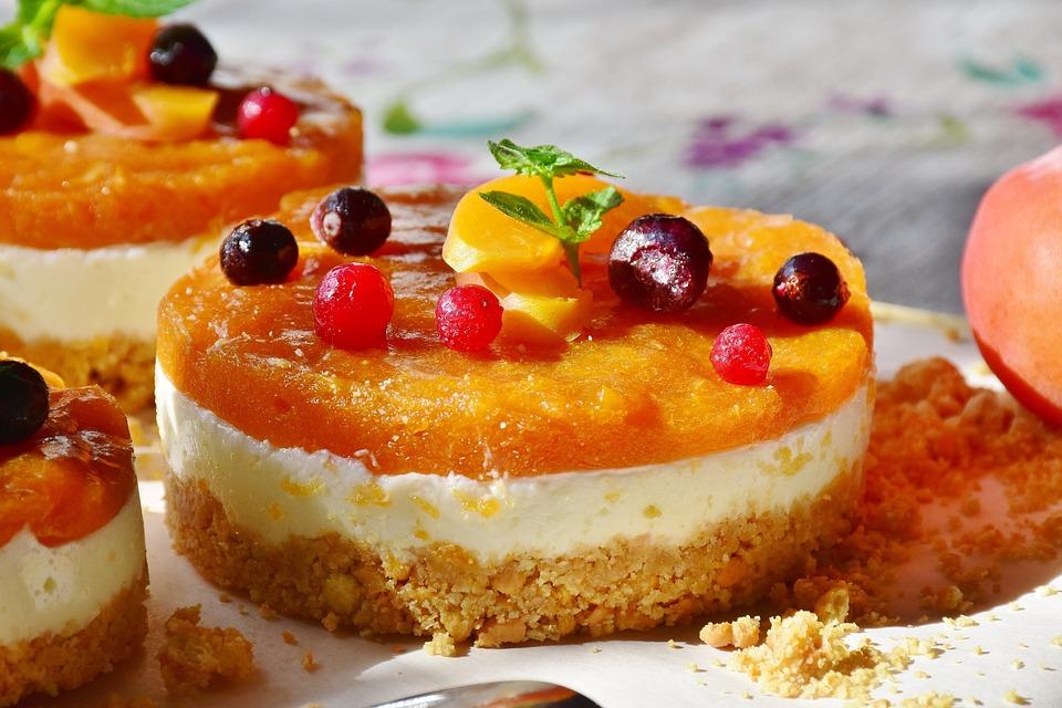Quarktörtchen, Albicocche, Frutta, Torta, Quark