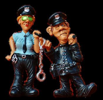 警官, 女性警察官, 同僚, おかしい, フィギュア, 警察, 面白い