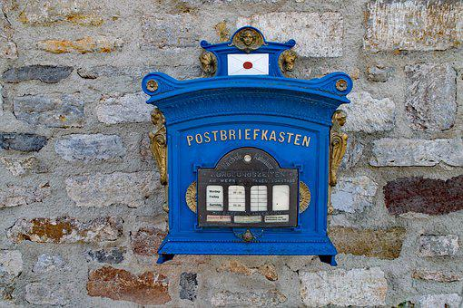 郵便メール ボックス, メールボックス, エルフルト, テューリンゲン州 ドイツ