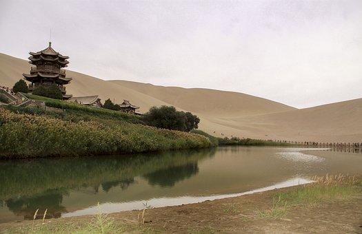 中国, 甘粛省, 敦煌, クレセント湖