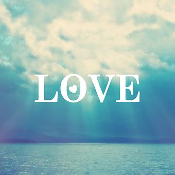Love, Water, Blue, Clouds, Light