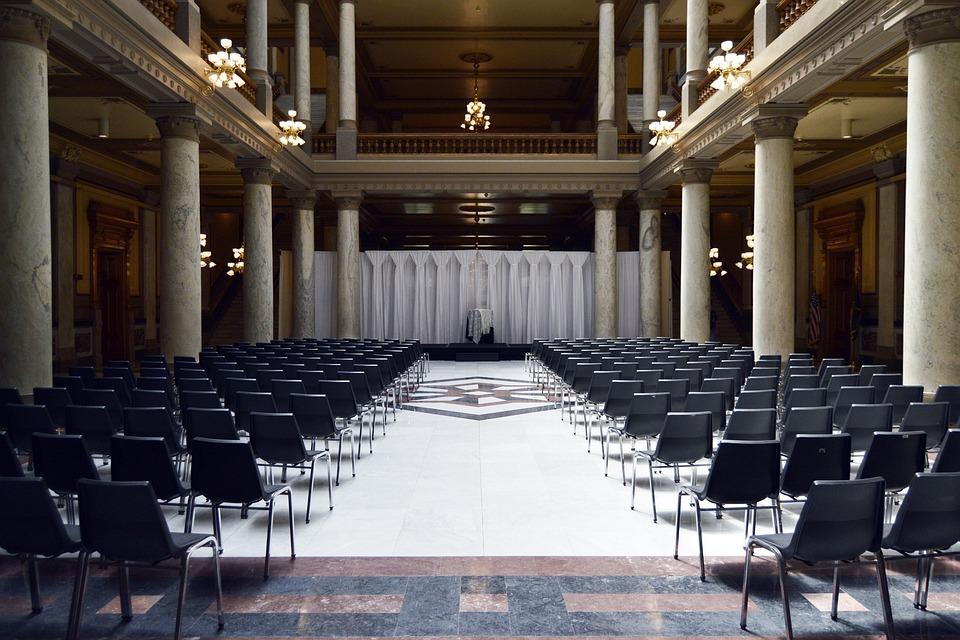 empty presentation venue