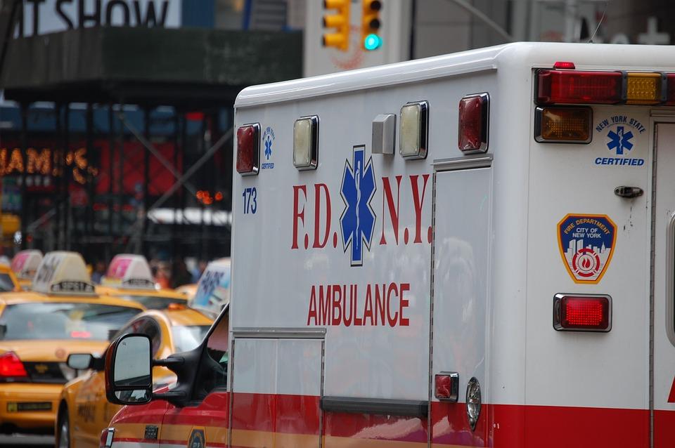 Ambulance, New York, Emergency, Medical, Vehicle, City