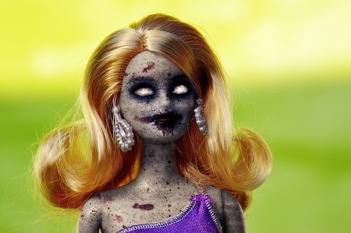 Doll, Zombie, Horror, Evil, Halloween
