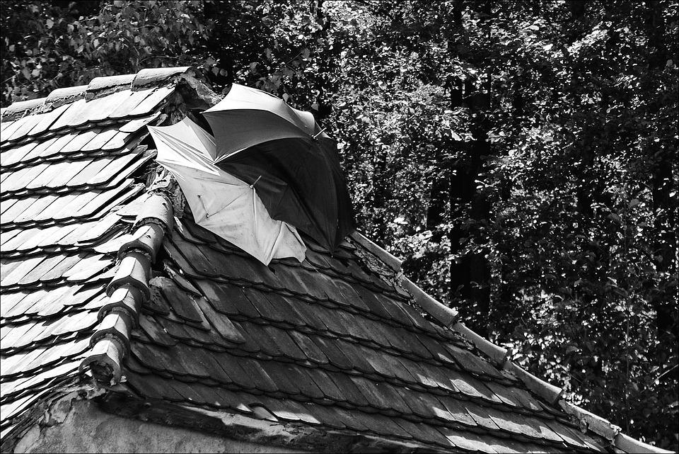 るのは、雨漏りの屋根, 修正プログラム, 傘, せMrします。 Tau