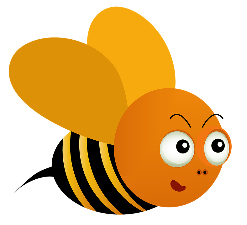 Bee Honey Sweet Cartoon