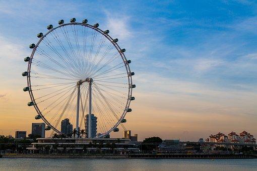 Singapur, La Noria, Vueltas De La Rueda