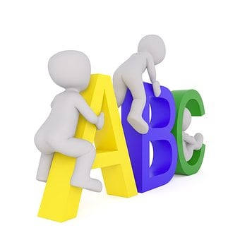 Lingua, A, B, C, Abc Maschi, Lettere