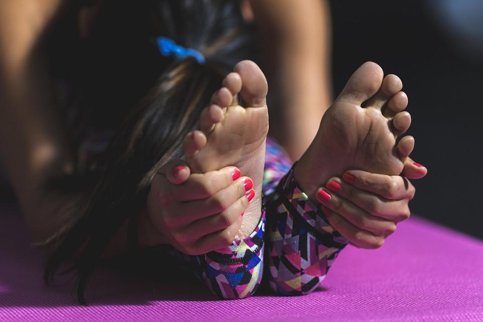 Orang Orang, Wanita, Gadis, Yoga, Tikar, Fisik