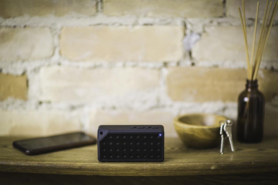 Bluetooth, Black, Speaker, Electronic, Technology