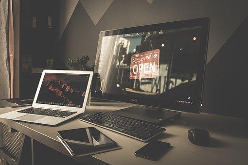 ラップトップ, アップル, Macbook, コンピュータ, ブラウザー, 研究